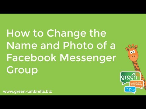 Facebook Messenger, how to change the name and the photo of a group