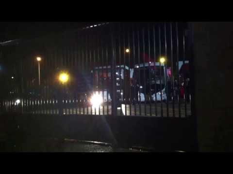 WWE Live Tour Goldust leaving Belfast 6 November 2013