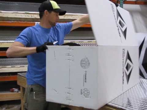How to unpack your aluminum diamond plate sheets from Online Diamond Plate