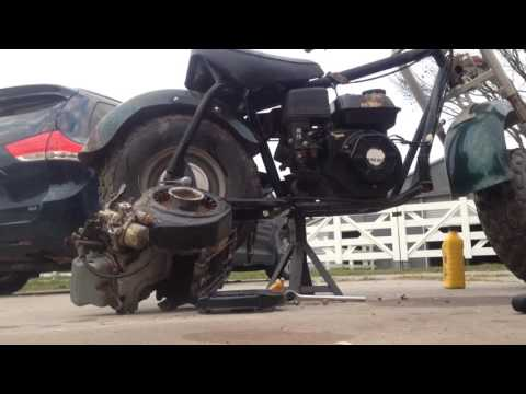 Baja Minibike Carb Clean and Startup