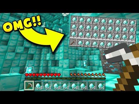 FASTEST WAY TO GET DIAMONDS IN MINECRAFT! (Minecraft Pocket Edition)