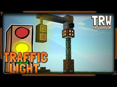 ▶How to Make a Traffic Light 》Minecraft pe