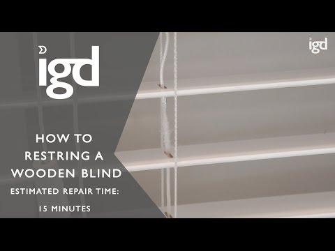 Wooden Blinds Direct: Restringing a wooden blind