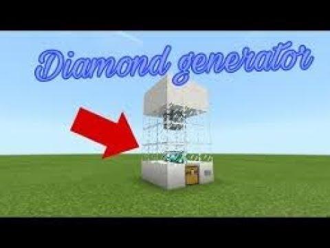 Diamond generator machine in MCPE/ with command block