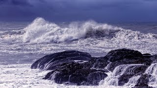 Download Ocean Waves Rain Sounds and Relaxing Music - Deep Sleep Relaxation Video