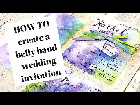 How To Create A Belly Band Wedding Invitation