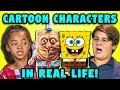 10 Cartoon Characters In Real Life W Kids (React) mp3