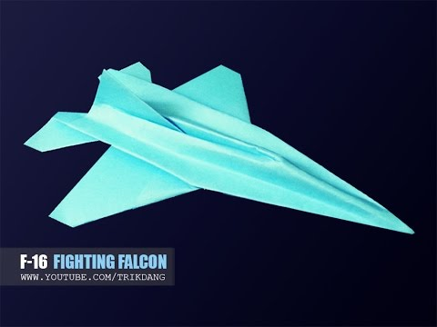 How to make a paper airplane - Paper JET FIGHTER that FLIES | F-16 Falcon