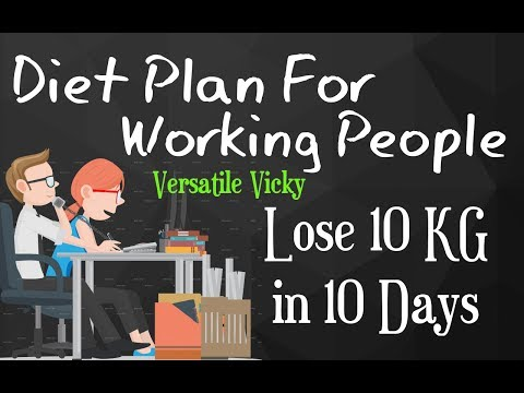 How to Lose Weight Fast 10Kg in 10 Days   Weight Loss Diet Plan For Working People / Office Goers