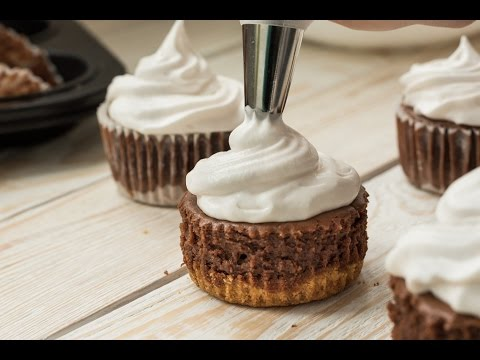 Mini Chocolate Cheesecakes - Easy To Follow Mini Cheesecakes Recipe