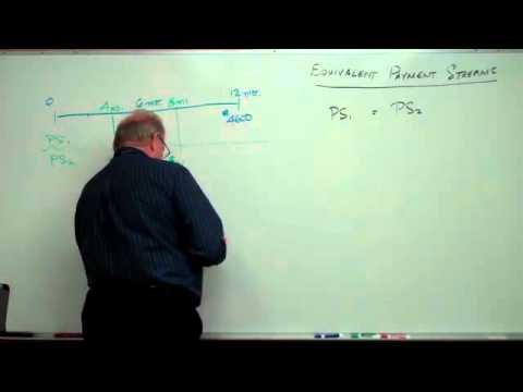 Business Math 2 - Equivalent Payment Streams
