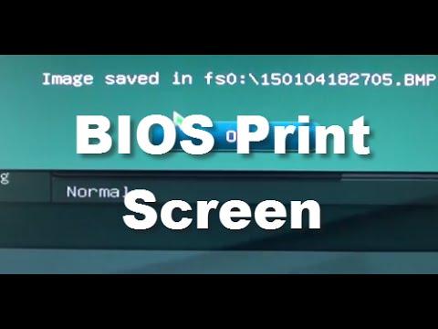 How to Take Screenshot / Print Screen of Bios Settings on Motherboard