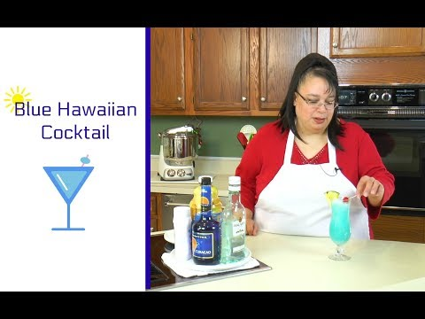 Blue Hawaiian Cocktail ~ How to Make a Blue Hawaiian ~ Amy Learns to Cook