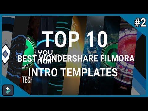 Top 10 Best Wondershare Filmora Intro Templates #2 + Free Download