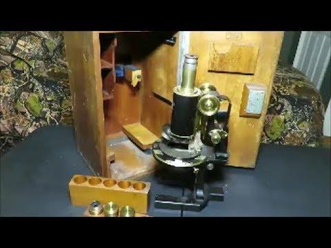 carlzeiss jena vintage microscope