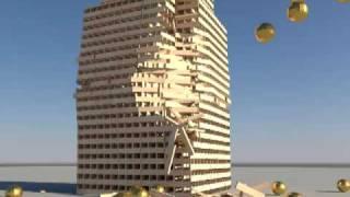 Over 5000 KEVA planks building - Bullet Physics
