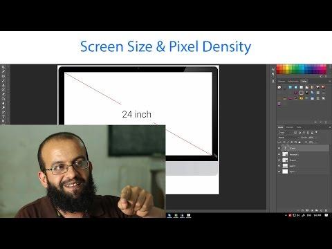قياس الشاشة وكثافة البكسلز - Screen Size & Pixel density (PPI or PPCM )