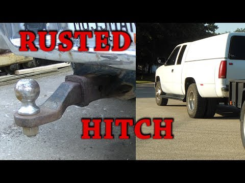 91 GMC C3500 Reciever Hitch Rusted In
