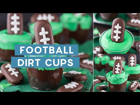 Football Themed Dirt Cups