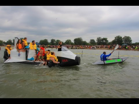Cardboard Boat Races -- 16th Annual Cheeseburger in Caseville 2014