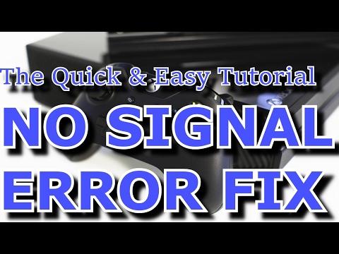 Xbox One HDMI No Signal Error Fix Guide