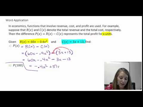 3: Application of Function Algebra