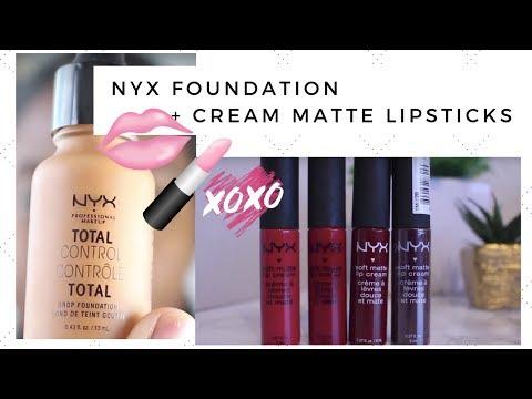 First Impression & Review :NYX Total Control Drop Foundation + Cream Matte Liquid Lipsticks SWATCH