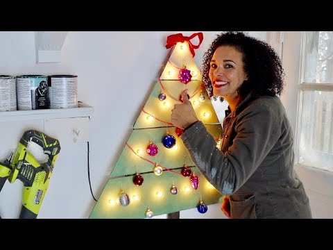 Wall-mounted Wooden Christmas Tree: DIY Crafts - Thrift Diving
