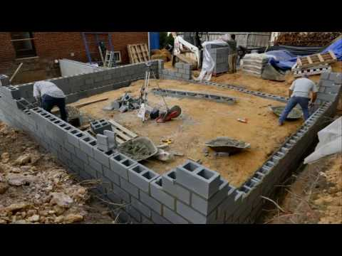 Time-lapse video of masonry work