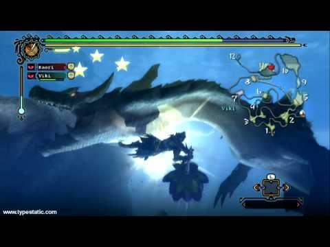 Monster Hunter Tri - Lagiacrus Hunt Montage (Hammerin' the Horns)