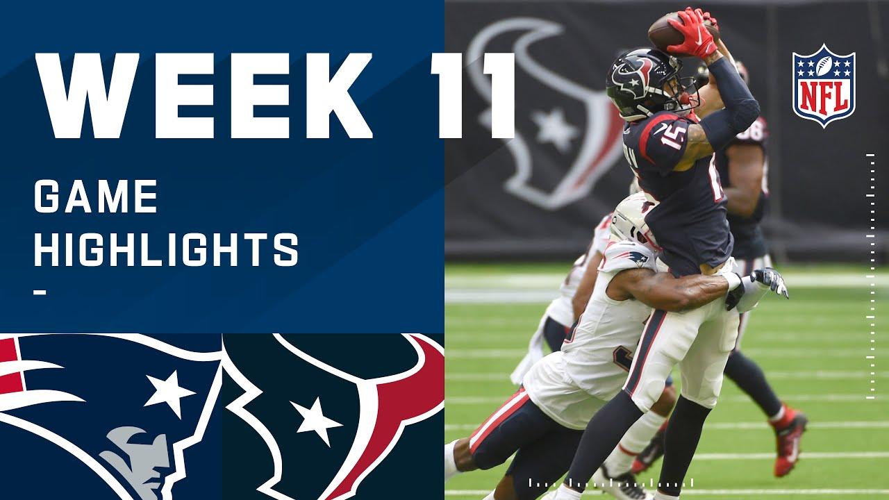 Patriots vs. Texans Week 11 Highlights | NFL 2020