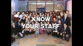 """""""Know Your Staff"""" Collection on Late Night, 1982-84"""