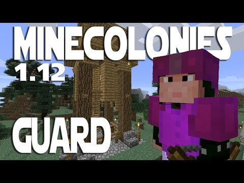 Minecraft Minecolonies 1.12 ep 2 - Guard Tower And Builder Upgrade