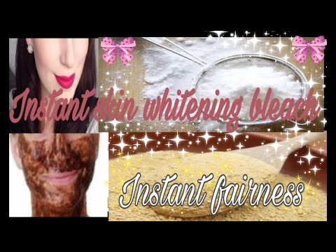 DIY: Miracle Skin Whitening Face BLEACH | Instant Fairness | Natural Remedy