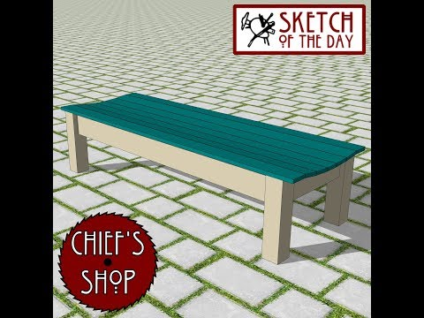 Chief's Shop Sketch of the Day: Zen Bench