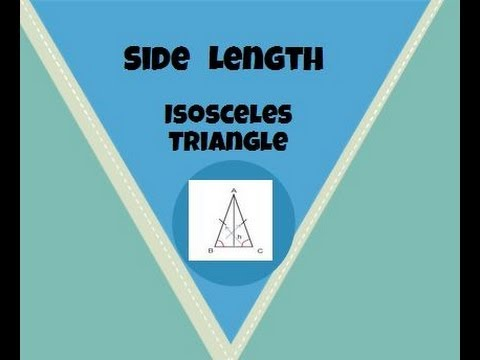 Finding the side length of an isosceles triangle-Geometry Help