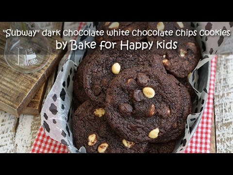 Like Subway Dark Chocolate White Chocolate Chips Cookies