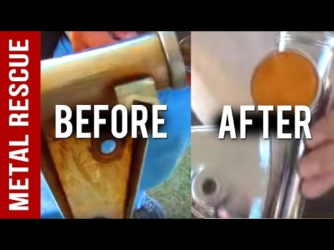 How to Remove Rust CB 750 Motorcycle Fork Ears using Metal Rescue®