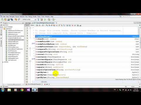 How to Convert String To Character Array in Java Netbeans