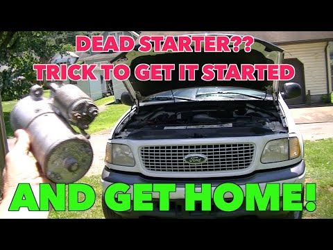 Starter Issues??? Simple trick to get your vehicle started and get Home!