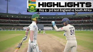 Day 4 - 3rd Test South Africa vs England Highlights Prediction Cricket 19 Hard mode 2020