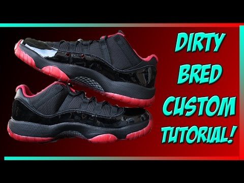 Dirty Bred 11 Low Custom Walkthrough