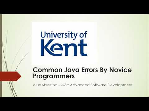 Java Mistakes by Novice Programmers 2 - Identifier expected