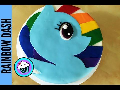 How to make Rainbow Dash Cake | Pinch of Luck