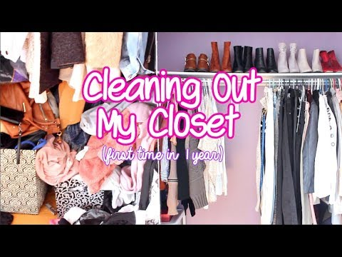 Cleaning out my closet for the FIRST TIME In 1 YEAR !