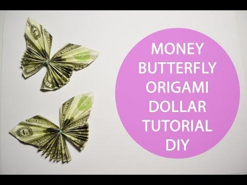Money Butterfly Origami Lei Tutorial Folded Dollar DIY