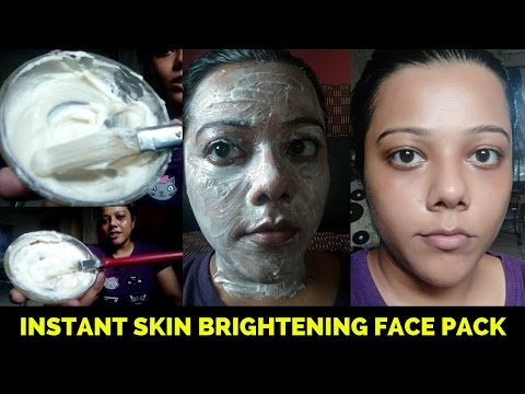 Instant face lifting & Skin Brightening Home made Face Pack (DIY in 10 min)