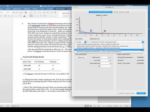 Using Gpower for Power and Sample Size Analysis