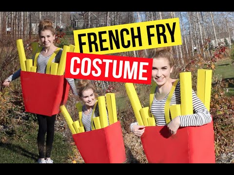 DIY French Fries Costume!!