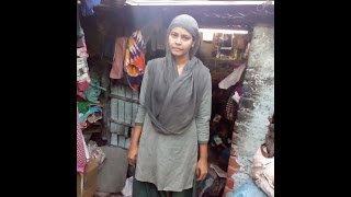 This arts graduate is a polio victim who relies on sewing for income...
